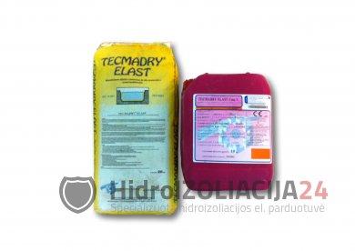 TECMADRY ELAST GREY elastinga hidroizoliacija, (15kg kompl.)